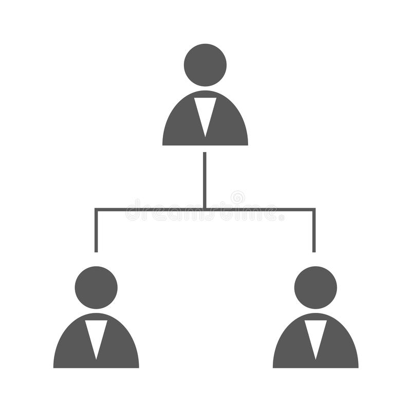 企业结构简单象的传染媒介 皇族释放例证