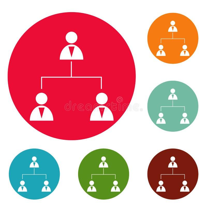 企业结构象圈子集合传染媒介 皇族释放例证