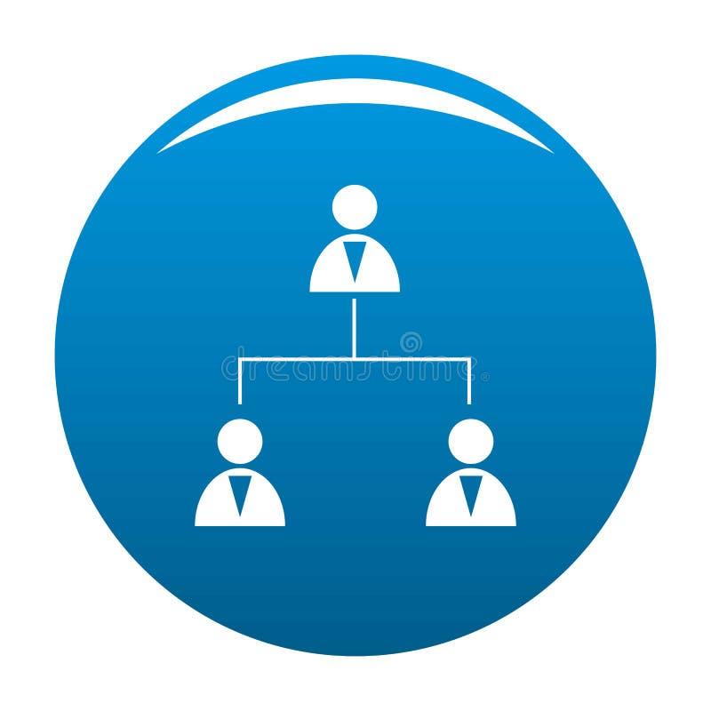 企业结构象蓝色传染媒介 向量例证