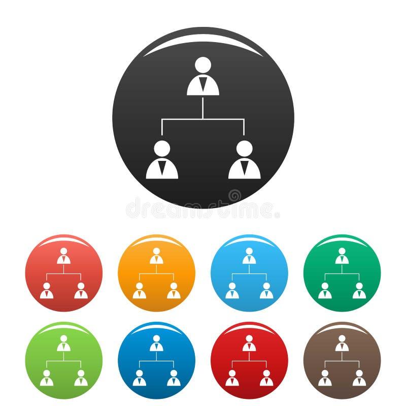 企业结构象被设置的传染媒介 库存例证