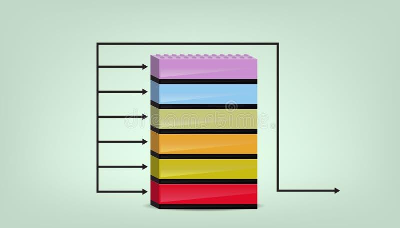 企业绘制三 向量例证