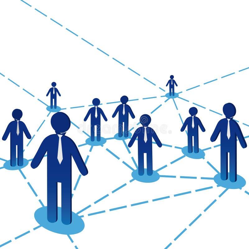 企业绘制人小组 库存例证