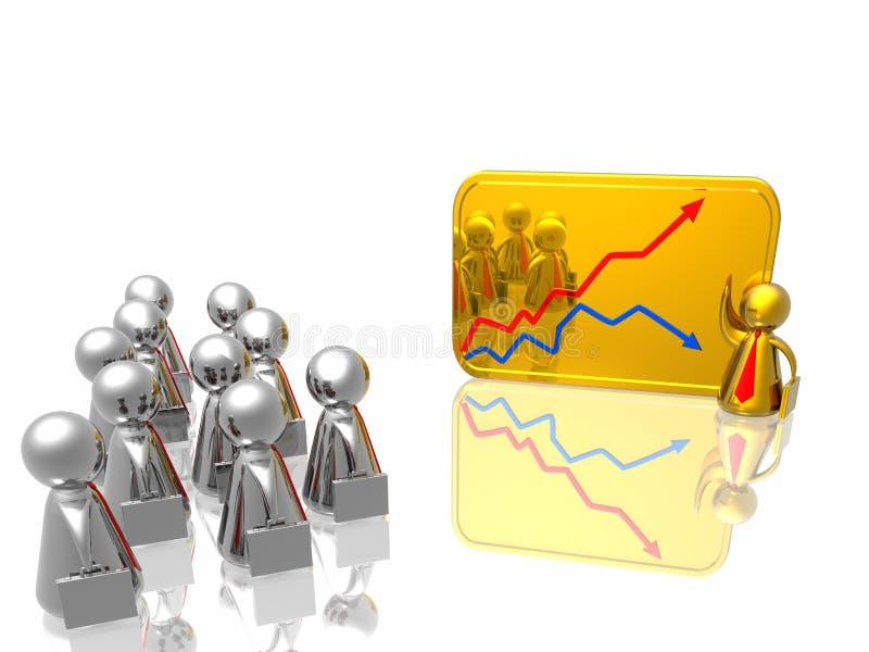 企业绘制人成功 向量例证