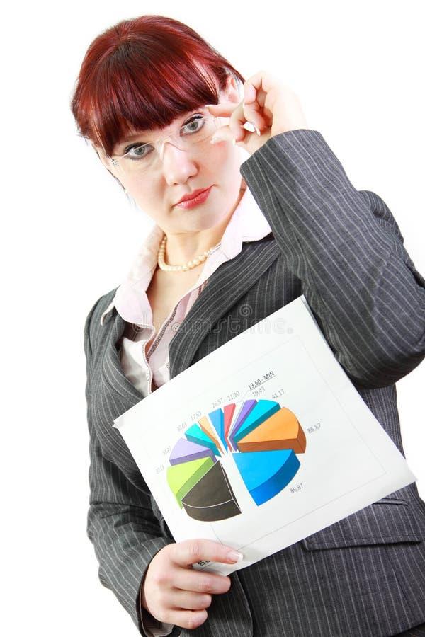 企业绘制妇女 库存照片