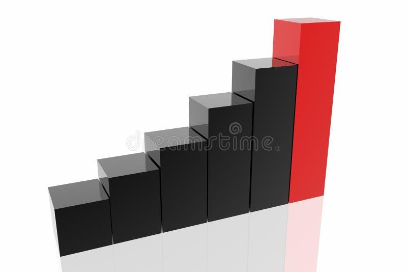 企业绘制成功 向量例证