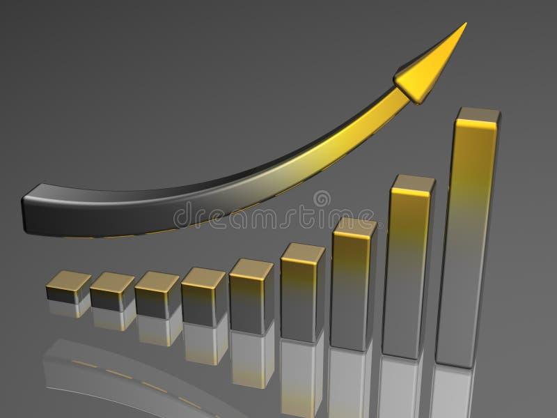 企业绘制成功 库存例证