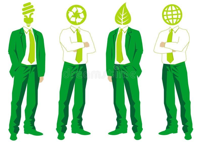 企业绿色向量 皇族释放例证