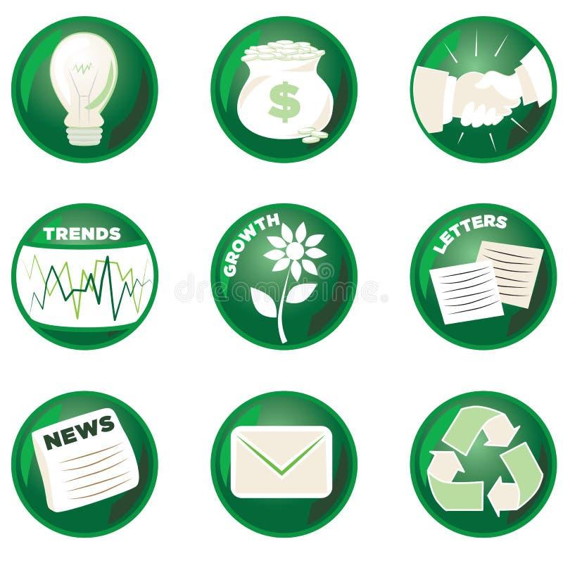 企业绿色图标 向量例证