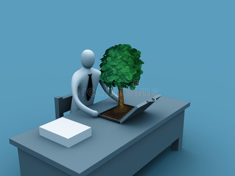 企业绿色 库存例证