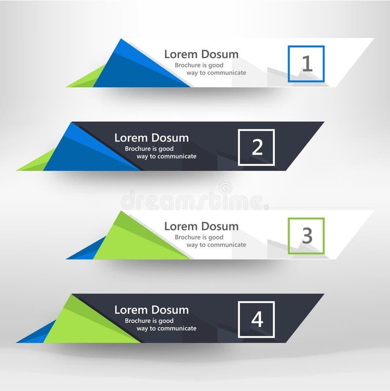 企业网横幅现代设计的模板 库存图片