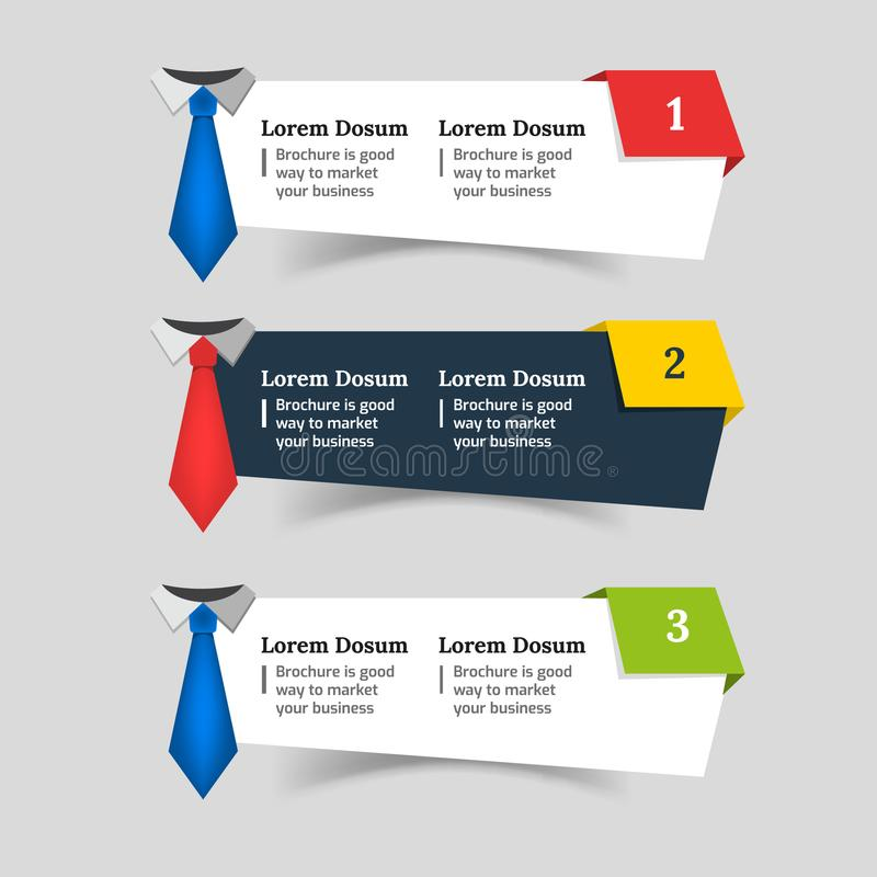 企业网横幅现代设计的模板 图库摄影