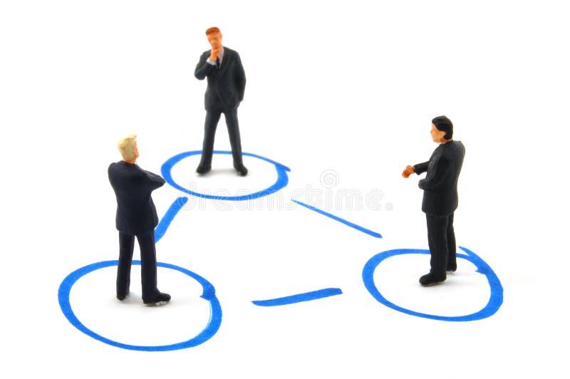企业网络连接人 免版税库存照片