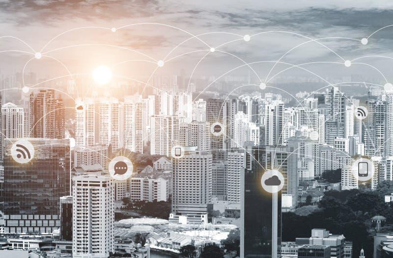 企业网络连接概念 向量例证