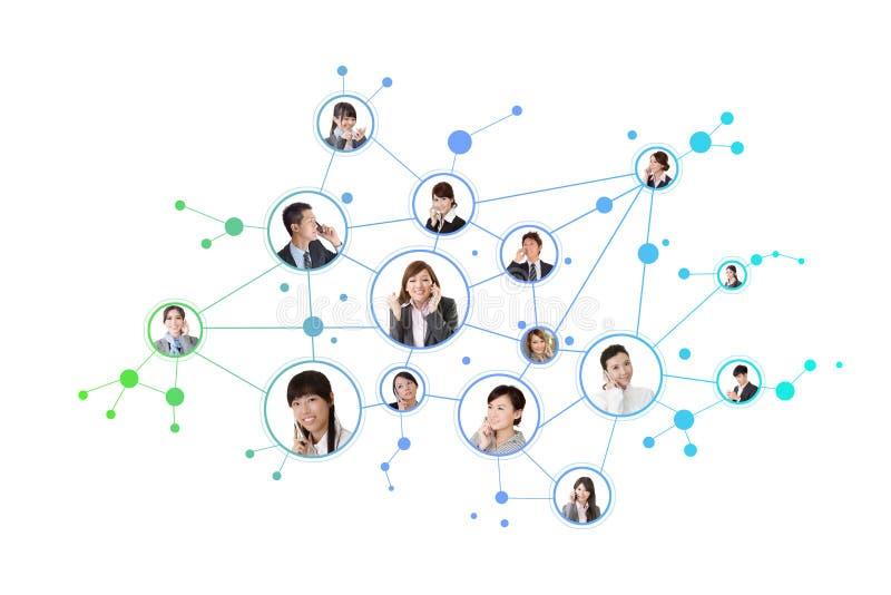 企业网络 图库摄影