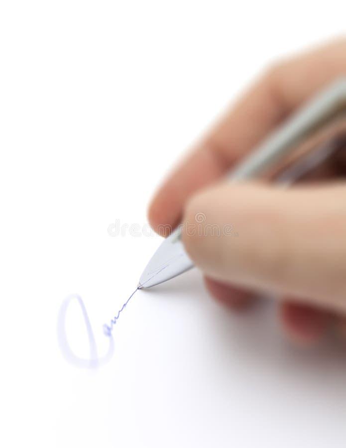 企业署名 免版税图库摄影
