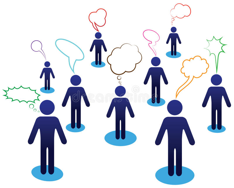 企业聊天小组 向量例证