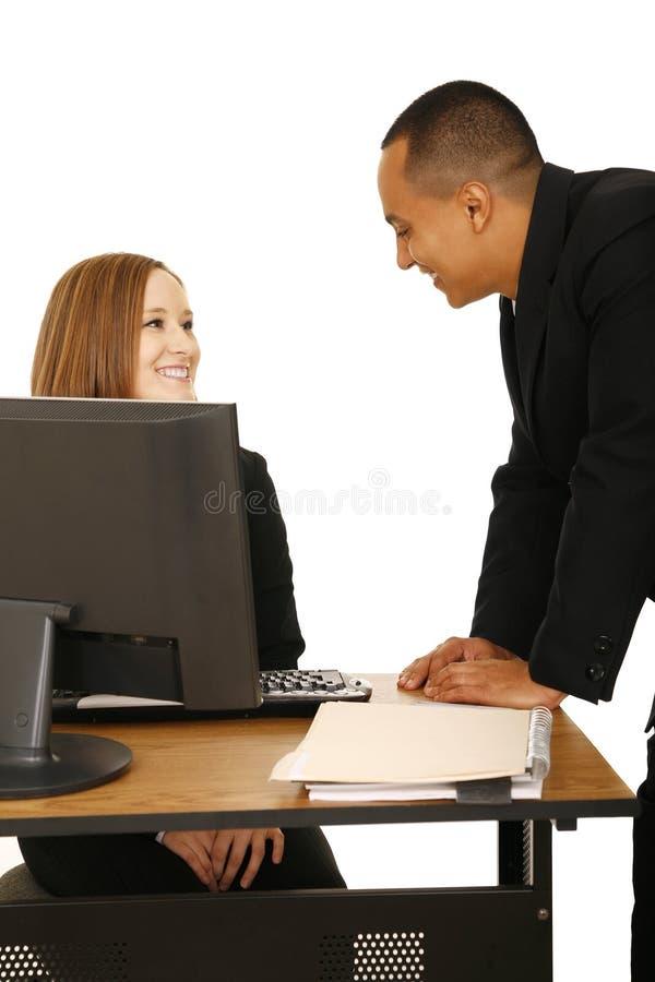 企业聊天愉快的查出的人员 图库摄影