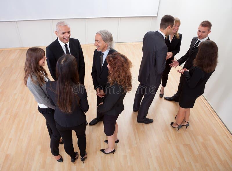 企业聊天的人员 免版税库存照片