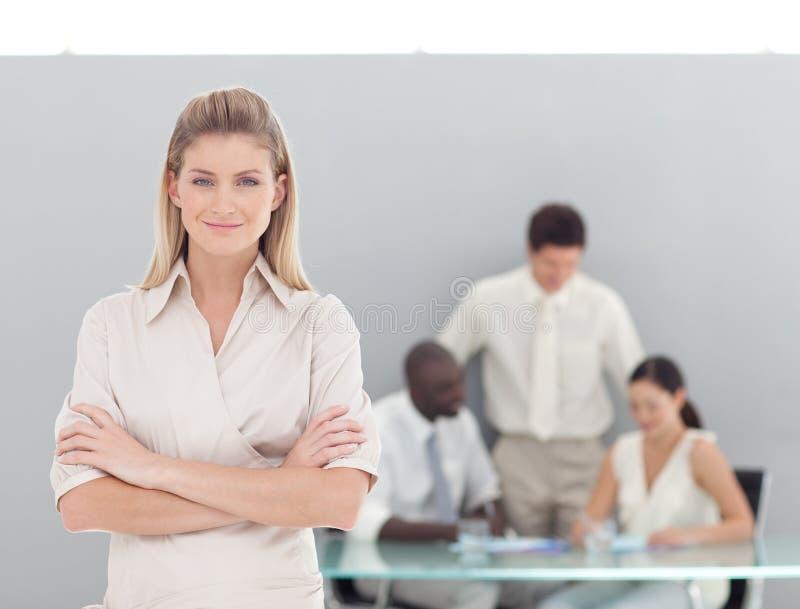 企业职业妇女年轻人 免版税库存照片