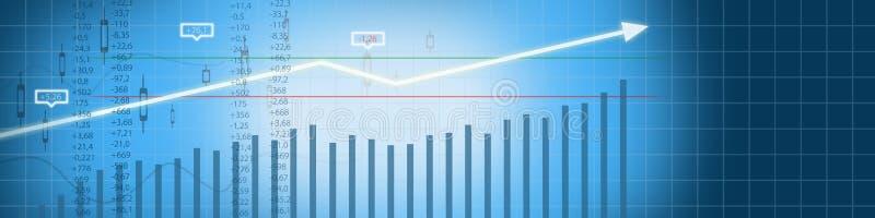 企业股市背景 库存例证