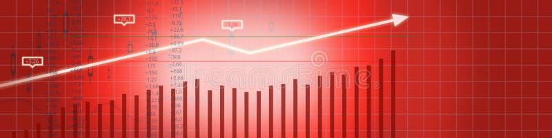 企业股市背景 向量例证