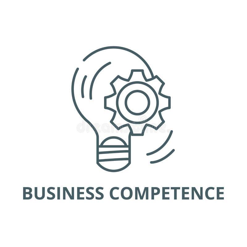 企业能力线象,传染媒介 企业能力概述标志,概念标志,平的例证 向量例证