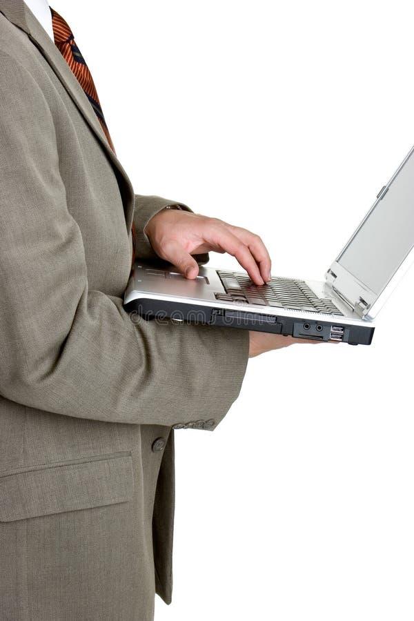 企业膝上型计算机人 免版税库存图片