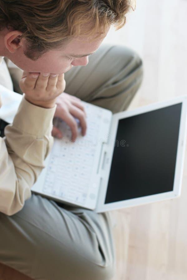 企业膝上型计算机停留 库存照片