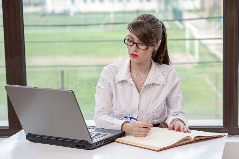 企业膝上型计算机妇女 图库摄影