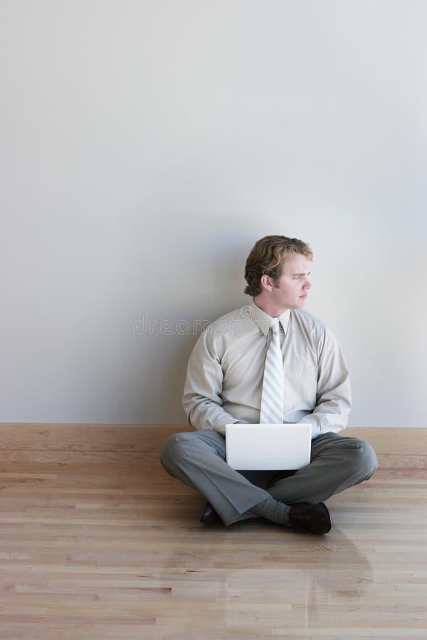 企业膝上型计算机 图库摄影