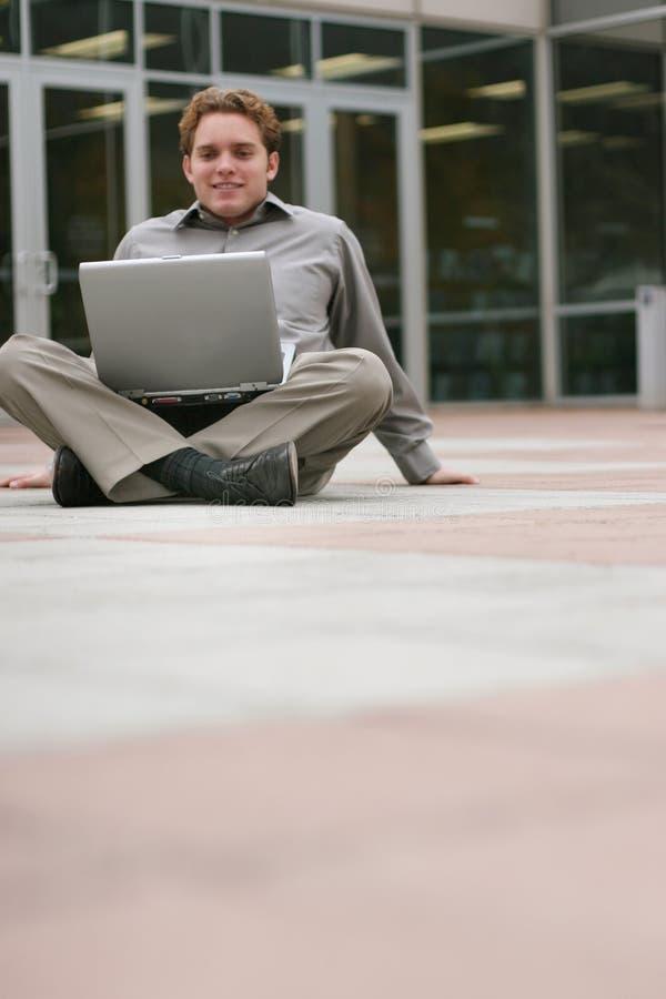 企业膝上型计算机 库存照片