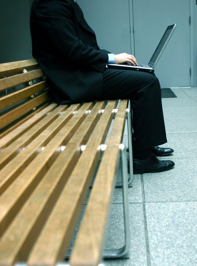 企业膝上型计算机 免版税库存照片