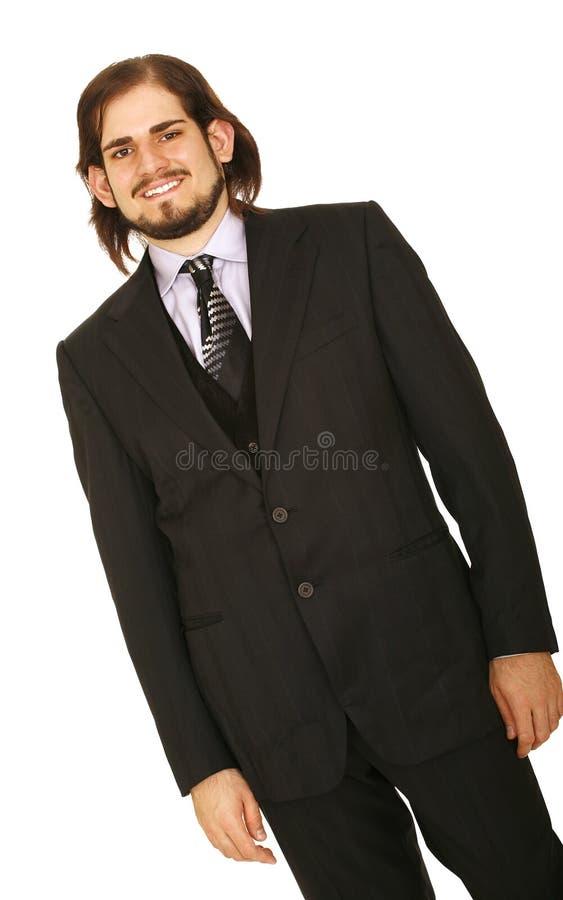 企业英俊人微笑 免版税库存照片