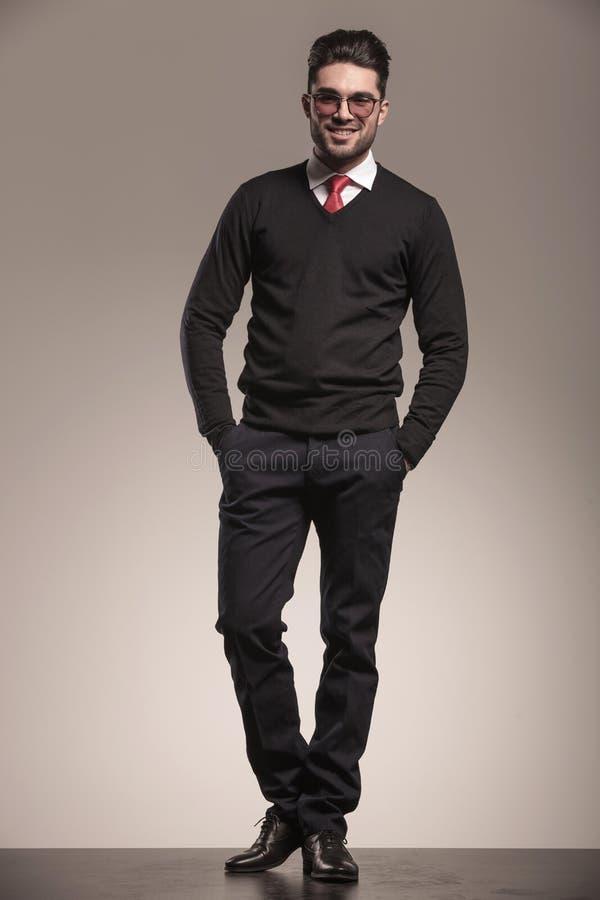 企业英俊的人年轻人 图库摄影