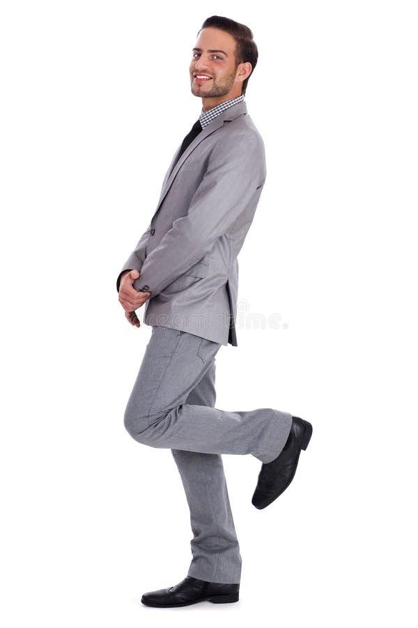 企业英俊的查找的人您新 免版税库存照片