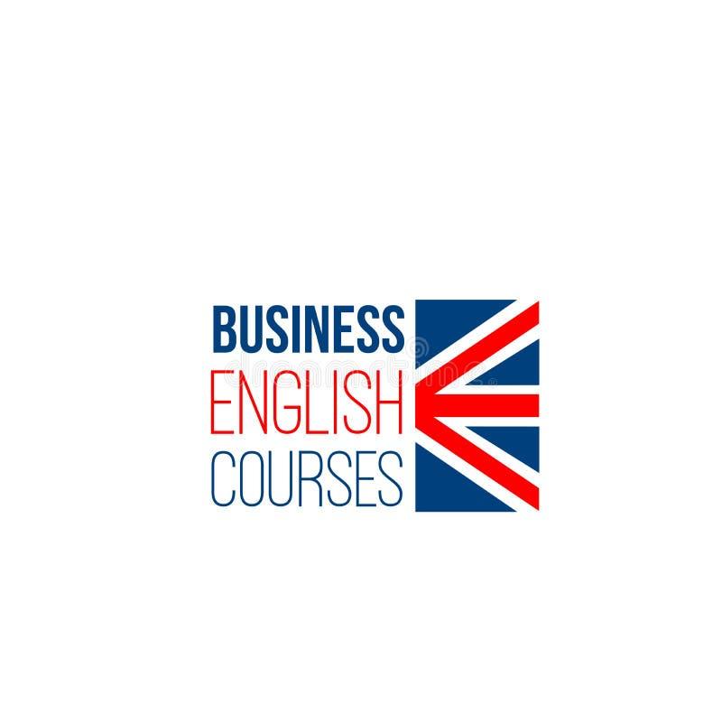 企业英语课程的传染媒介标志 皇族释放例证