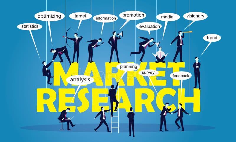 企业营销配合研究概念 皇族释放例证