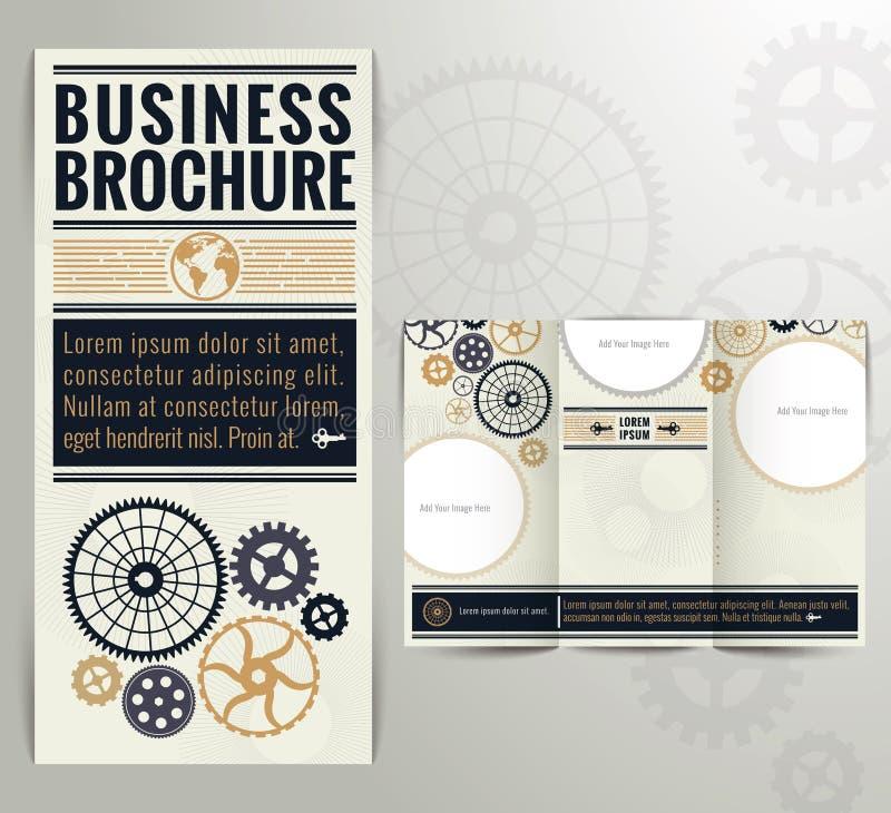 企业葡萄酒小册子飞行物设计模板 向量例证