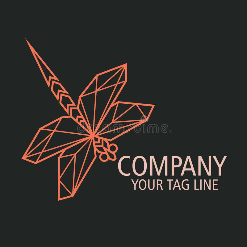 企业蜻蜓最小商标的概念 库存例证