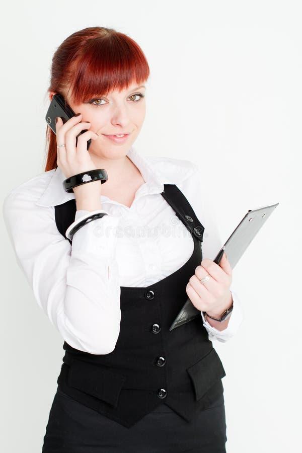 企业衣裳的女孩 免版税库存照片