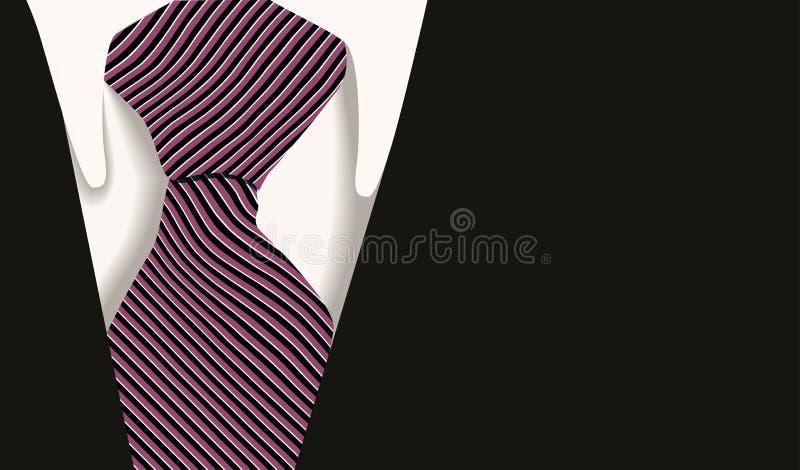 企业衣领衬衣关系 皇族释放例证