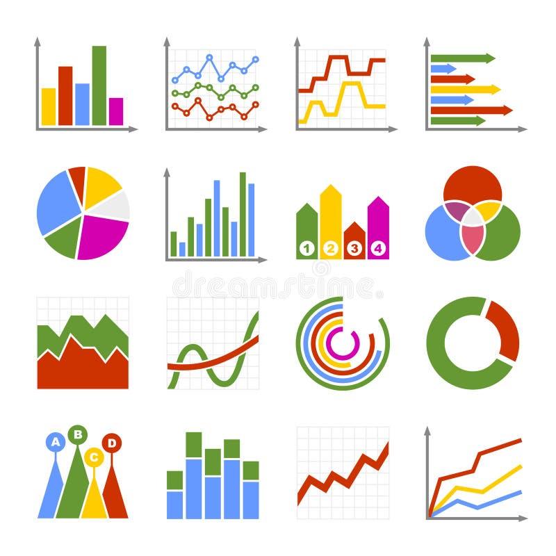 企业被设置的图表和图象 向量 库存例证