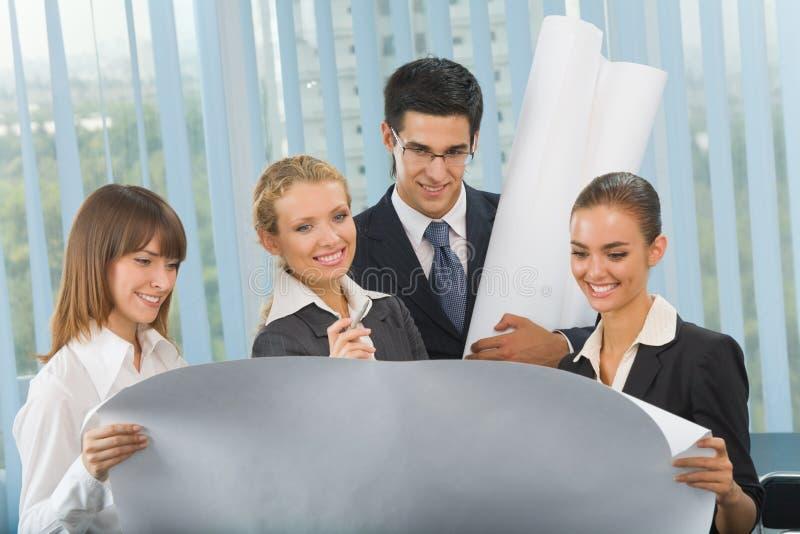 企业规划小组 免版税库存图片