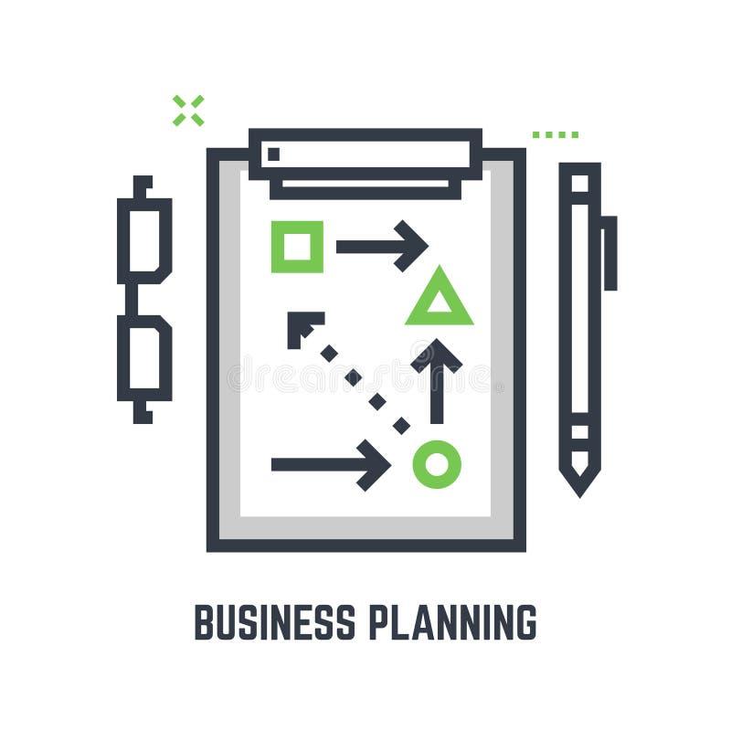 企业规划桌 向量例证