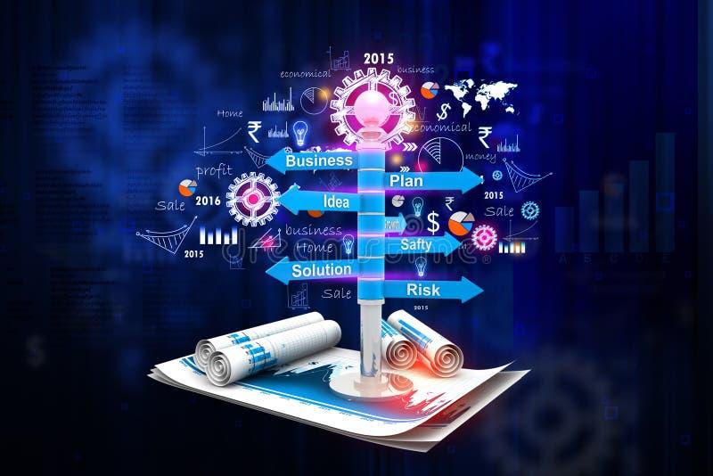 企业规划流程图 向量例证
