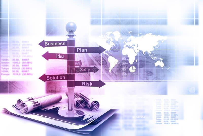企业规划流程图 库存照片
