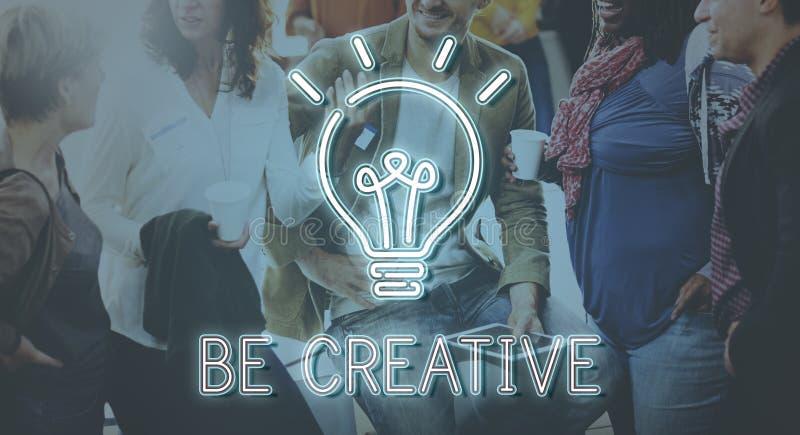 企业视觉创造性成功战略概念 免版税库存照片