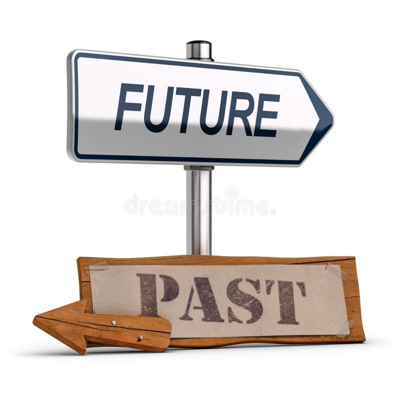 企业视觉,未来对过去概念 库存例证