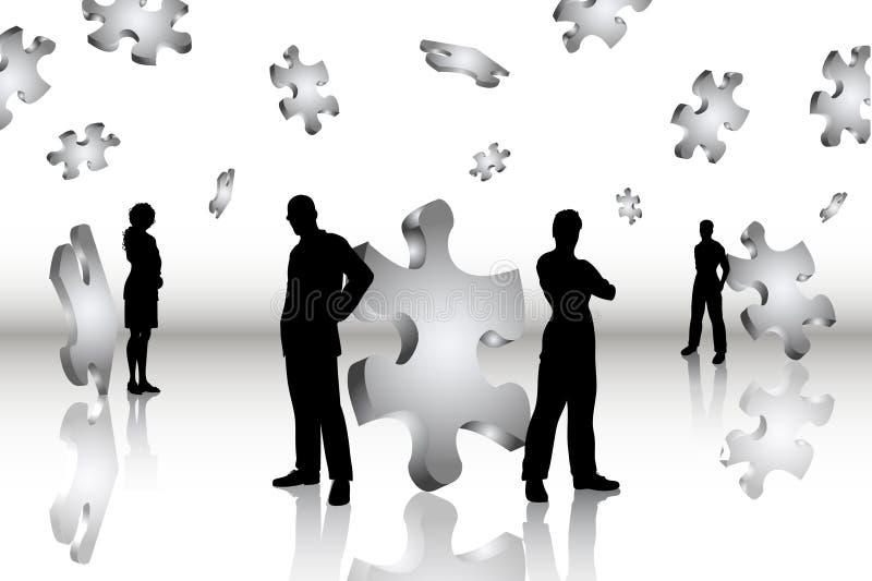 企业解决方法 库存例证