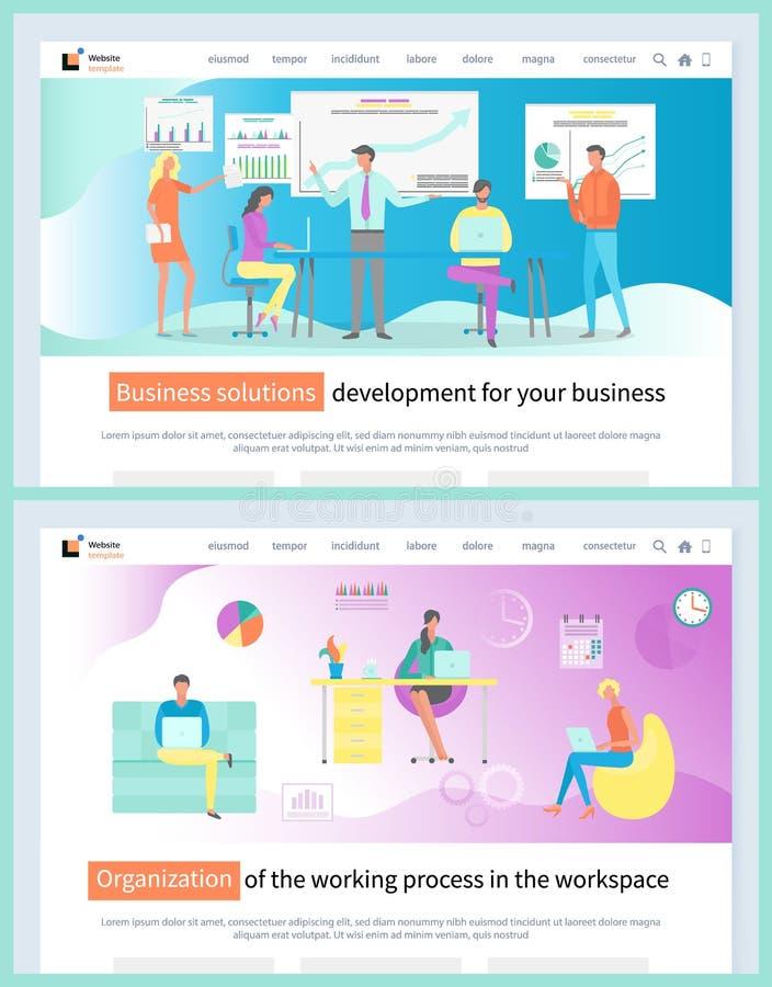 企业解答和发展组织 库存例证